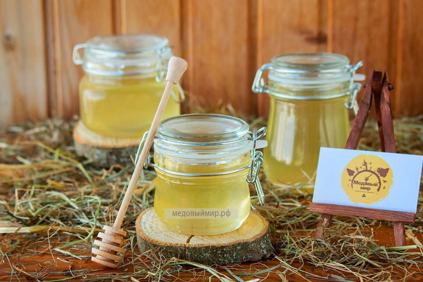 Мёд в стеклянной баночке 0,3 кг