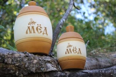 Деревянный бочонок для мёда ( светлый ), 0,25 кг