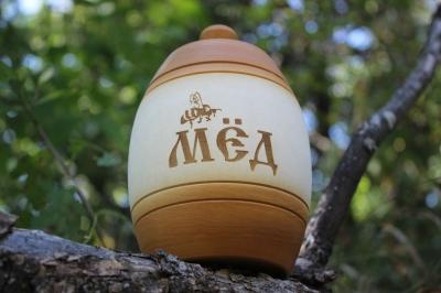 Деревянный бочонок для мёда ( светлый ), 0,5 кг