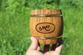 Деревянный бочонок для мёда, 0,3 кг
