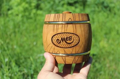 Деревянный бочонок для мёда, 1 кг